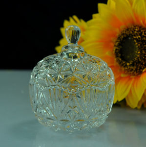 Hot Glass Candy Jar with Glass Lid pictures & photos