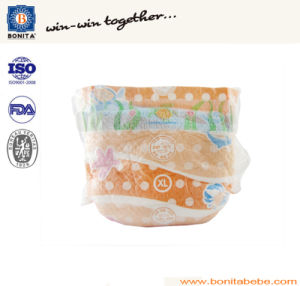 Anti Leak High Absorbent Disposable Baby Diaper with PE Tape pictures & photos