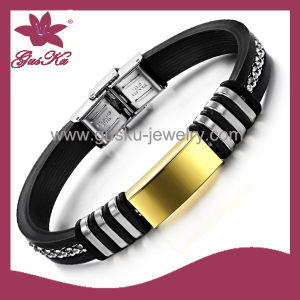 Popular Men′s Leather Bracelet (2015 Stlb-101) pictures & photos