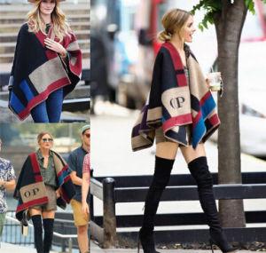 Fashion Ladies Winter Warm Cashmere Shawl (50213) pictures & photos