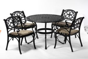 Elegant Dining Cast Aluminum Outdoor Set Furniture with Cushion pictures & photos