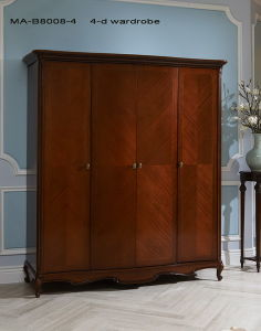 High Quality Classical Wooden Furniture Wardrobe pictures & photos