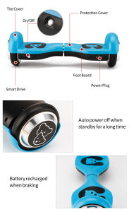 Smartek 4.5′′ Smart Self Balancing Electric Scooter Patinete Electrico with Children Gift S-003 pictures & photos