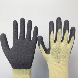 10g Poly Glove with Wrinkle Latex Coating