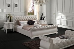 2016 Modern Leather Bed J-523