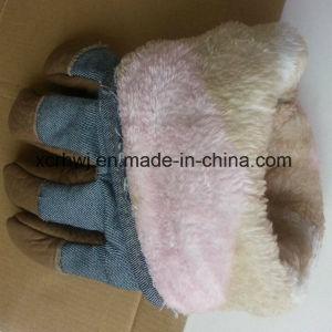 Winter Leather Work Glove,Winter Warm Working Gloves,Winter Working Gloves,Leather Winter Working Glove,Cow Grain Leather Fleecy Lined Winter Warm Working Glove