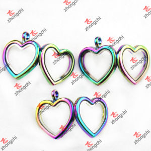 Wholesale Rainbow Color Round/Heart/Teardrop/Square Locket Pendant Necklace (RCL120) pictures & photos