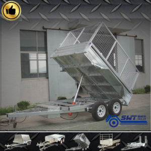 Dual Axle Hydraulic Farm Tipping Trailer with Reasonable Price pictures & photos
