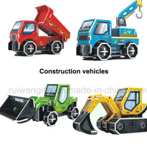 Wholesale Construction Vehicles Paper Puzzle Kids Toy for Promotional pictures & photos