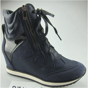 New High Wedge Heels Leather Sports Women Shoes (S 31-10)