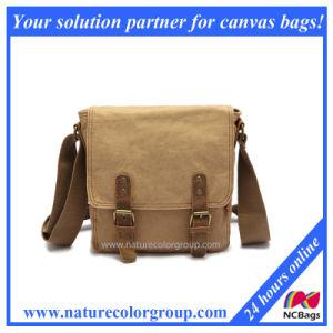Unisex Canvas Leather Messenger Shoulder Bag (MSB-004) pictures & photos