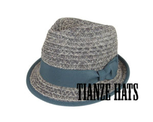 Smoky Gray Paper Braid Trilby Hat pictures & photos