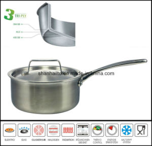Cookware 3 Ply Composite Material Saucepan pictures & photos