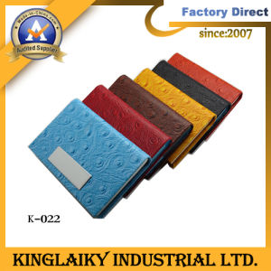 Fashion Leather Product Business Card Case for Promotion (K-022) pictures & photos