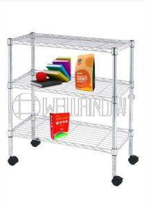 Movable Adjustable Chrome Light Duty Metal Wire Shelving pictures & photos