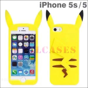 Wholesale Pocket Moster Pikachu Silicone Jacket Phone Case for iPhone 4/5/6/6plus pictures & photos