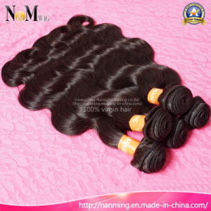 Unprocessed Brazilian Natural Human Hair Weft with #1 Hair Color pictures & photos