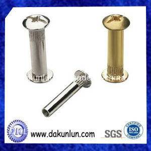 Stainless Steel and Brass Torx Knurled Screw Used in Furniture