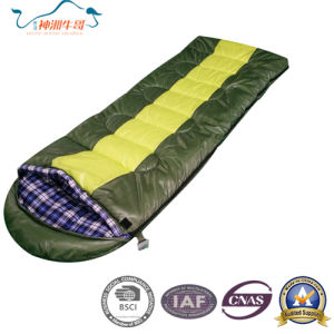 Hot Selling Flannel Envelope Sleeping Bag for Camping pictures & photos