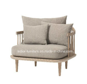 (SD-6005-1) Modern Hotel Restaurant Living Room Furniture Wooden Fabric Sofa pictures & photos