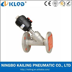 Klqd Brand Normally Closed Flange Pneumatic Angle Seat Valve pictures & photos
