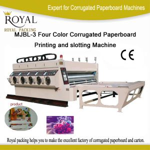 Mjbl-3 Four Color Corrugated Paperboard Printing and Slotting Machine (CPU digital display) pictures & photos