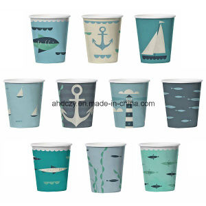 Logo Printed a Series of 6oz Personalized Nautical Paper Cups pictures & photos