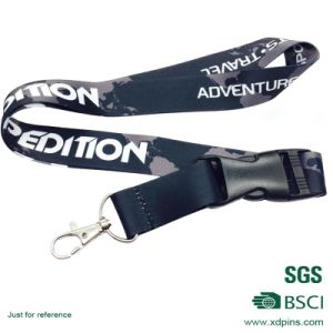 White and Red Polyester Lanyard for Badge and Medal pictures & photos