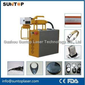High Speed 20 Watt Mini Hand-Held Portable Fiber Laser Marker for Big and Heavy Parts Marking pictures & photos