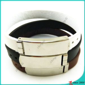 Classic Leather Bracelet with Buckle Design Jewelry (LB16041946)