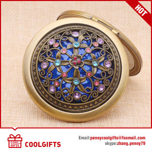 Wholesale Double Side Folding Decorative Makeup Pocket Mirrors for Gift pictures & photos