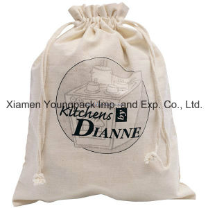 Promotional Custom 100% Natural Cotton Drawstring Bag for Shoes pictures & photos