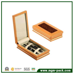 OEM Orange Custom Wooden Pen Gift Box for Two Pens pictures & photos