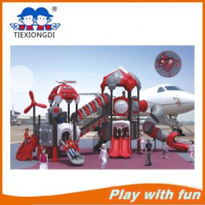 China Kindergarten The Train Plastic Slides Outdoor Playground Equipment pictures & photos