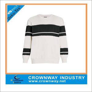 Wholesale Plus Size Crewneck Sweatshirt with Black Stripe pictures & photos