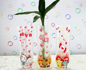 Hot Sale Plastic Vase with High Quality pictures & photos
