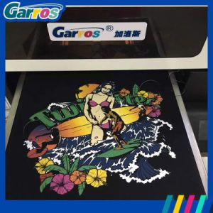 Garros Hot High Quanlity Flatbed A3 T-Shirt DTG Plotter Printer Machine pictures & photos