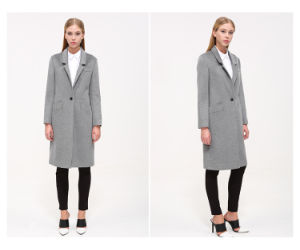 2016 Winter Woolen Garment Customized Women′s Wear Fashion Maxi Coat pictures & photos