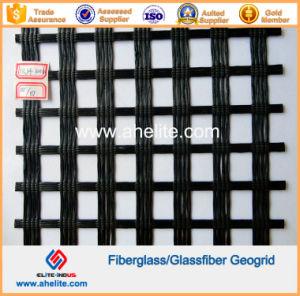 100kn/Mx100kn/M Fiberglass Geogrids Coated with Asphalt Bitumen pictures & photos