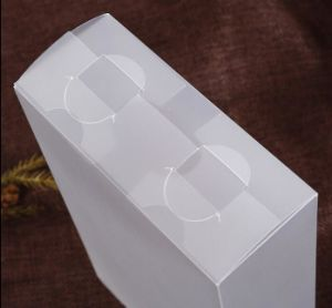 Custom Plastic folding box for apparel with your company logo pictures & photos