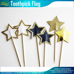 Star Shaped Decoration Bamboo Cake Toothpick Flag (M-NF29F14032) pictures & photos