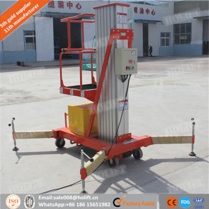 Single Mast Aluminium Lift/ Hydraulic Lift Table with Ce pictures & photos