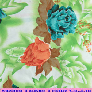 Printed Peach Skin Microfiber Fabric for Garment pictures & photos