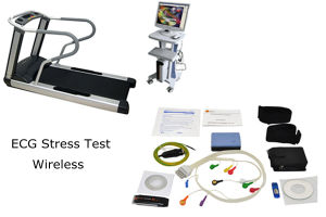 New Wireless WiFi ECG Stress Test System Holter Cardiac Analysis with St Software Kit+Trolley+ Treadmill-Maggie pictures & photos