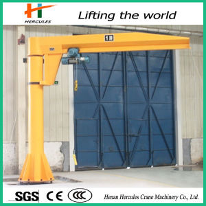 Hercules 5 Ton Pillar Hoist Floor Mounted Electric Small Jib Crane pictures & photos