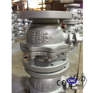 Flange 2-Way Full Port Wcb Stainless Steel Hand Lever Ball Valve pictures & photos