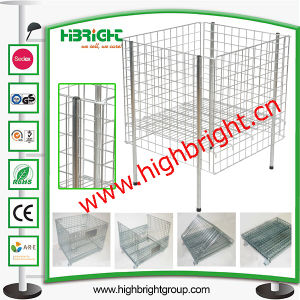 Supermarket Zinc Plated Wire Mesh Bin Cage pictures & photos