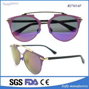 Italian Design Cat Eye Polarized Metal Sunglasses for Women pictures & photos
