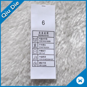 Washing Instructions Labels for Washing Symbols on Clothes pictures & photos