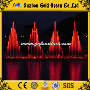 Lighted Lake Floating Fountain Music Dancing Fountain